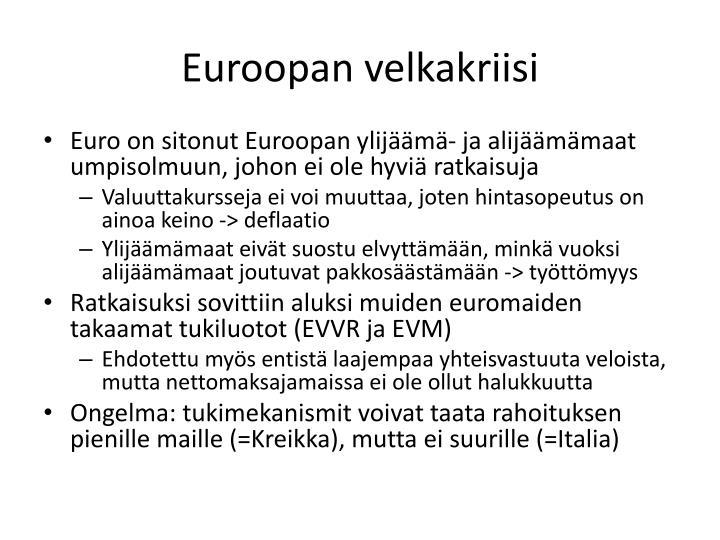 Euroopan velkakriisi