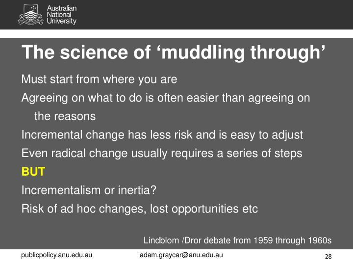 The science of 'muddling through'