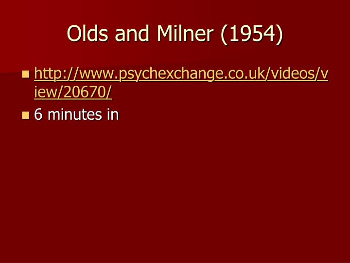 Olds and Milner (1954)