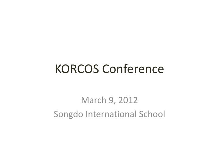 korcos conference