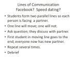 lines of communication facebook speed dating
