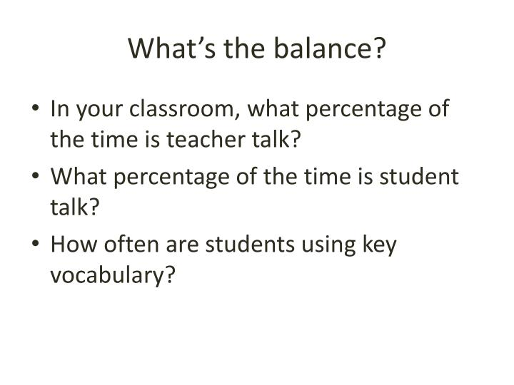 What's the balance?