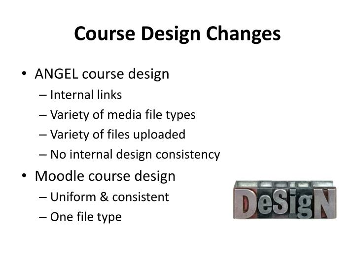 Course Design Changes