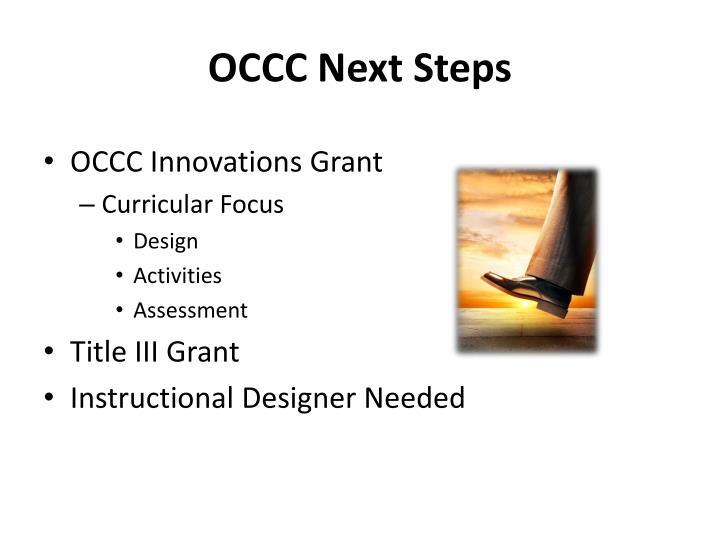 OCCC Next Steps