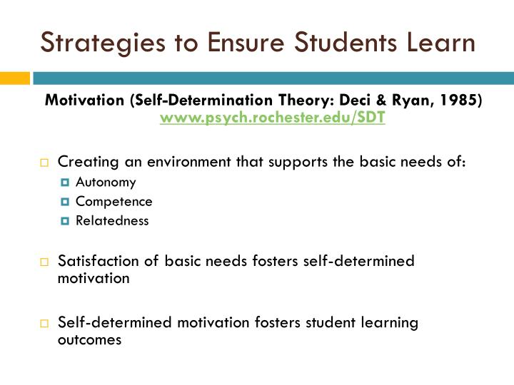 Strategies to Ensure Students Learn