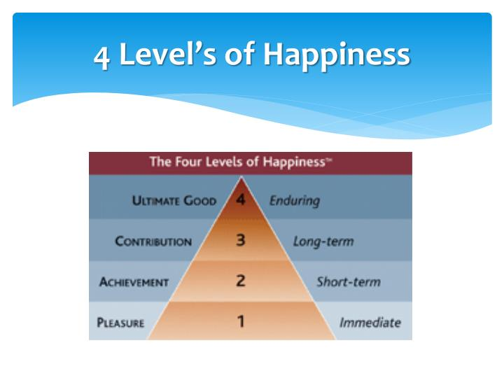 4 Level's of Happiness