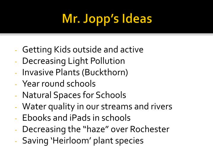 Mr. Jopp's Ideas