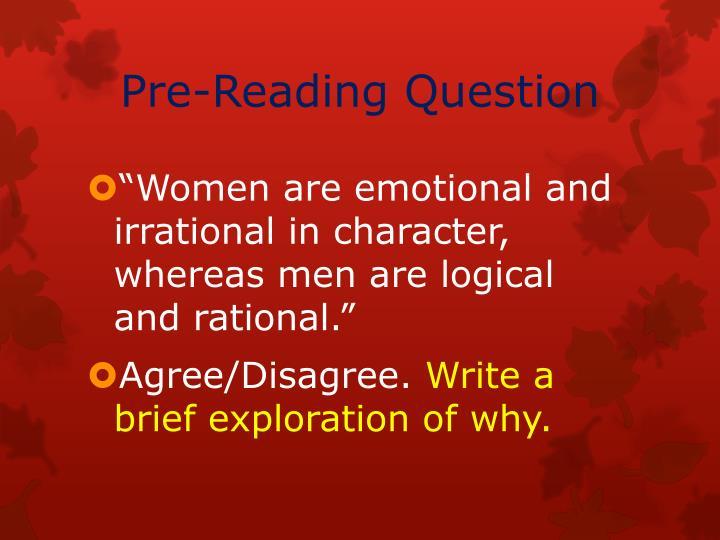 Pre-Reading Question