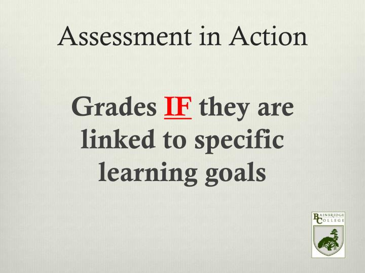 Assessment in Action