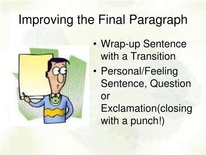 Improving the Final Paragraph