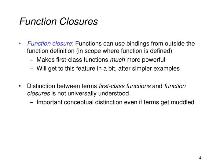 Function Closures