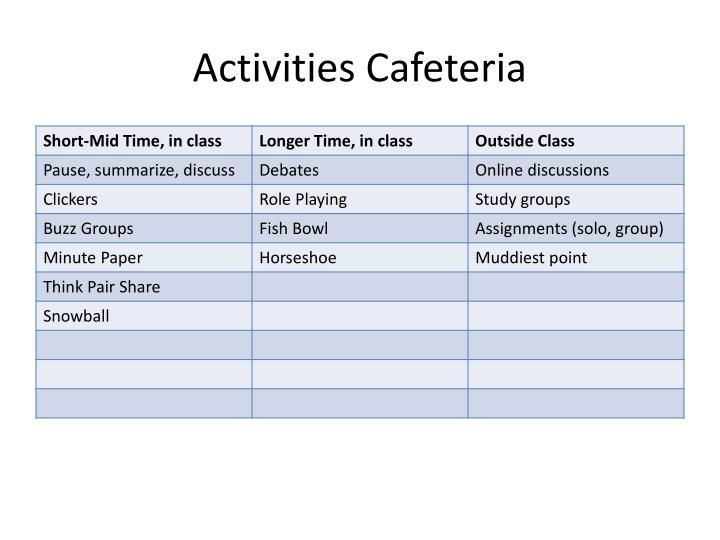 Activities Cafeteria