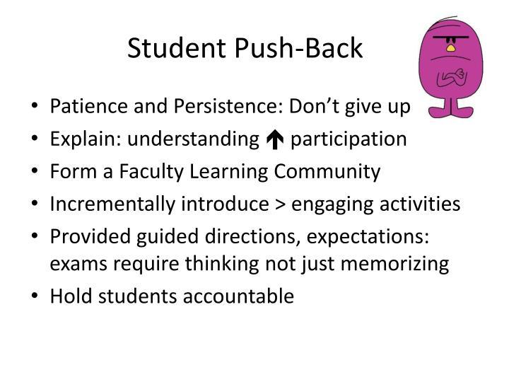Student Push-Back