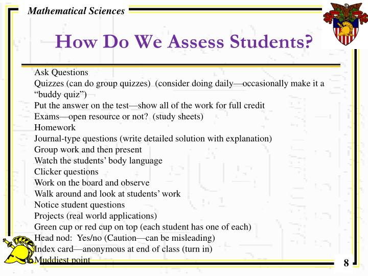 How Do We Assess Students?
