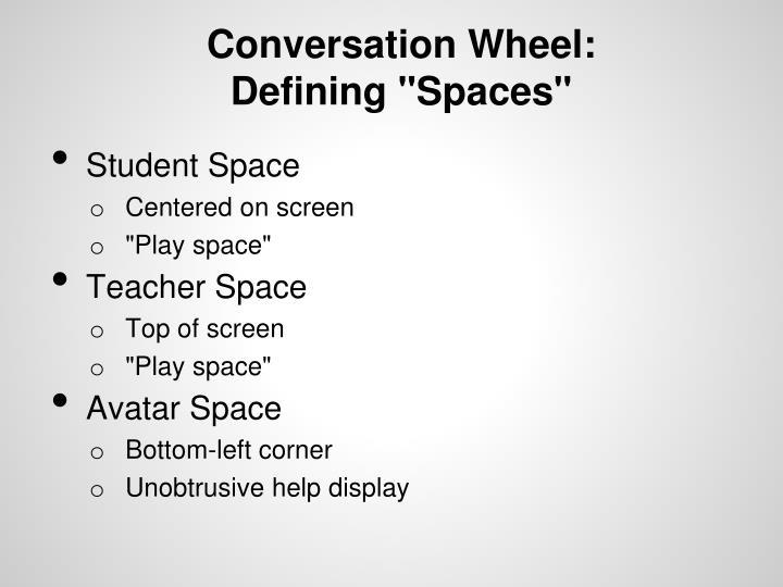 Conversation Wheel: