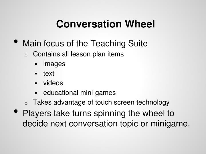Conversation Wheel