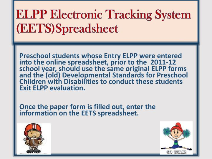 ELPP Electronic Tracking System (EETS)Spreadsheet
