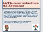 elpp electronic tracking system eets spreadsheet