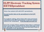 elpp electronic tracking system eets spreadsheet1