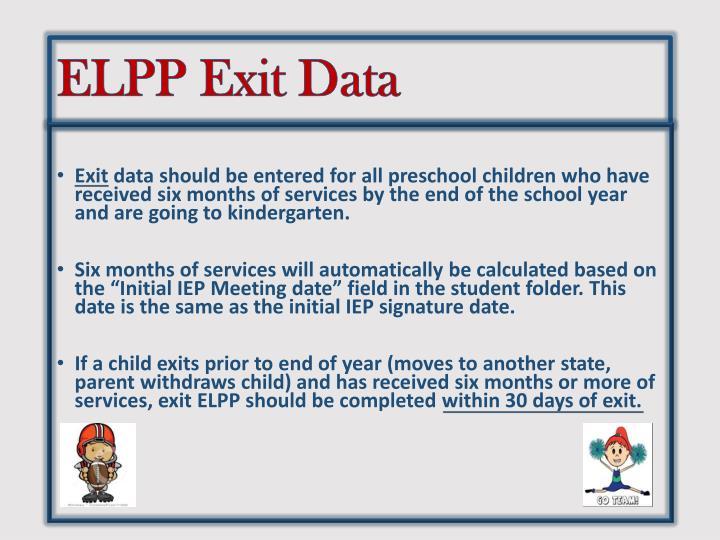 ELPP Exit Data