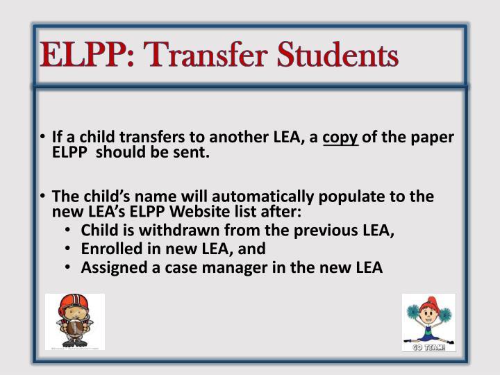 ELPP: Transfer Students