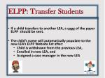 elpp transfer students