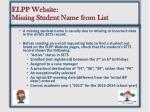 elpp website missing student name from list