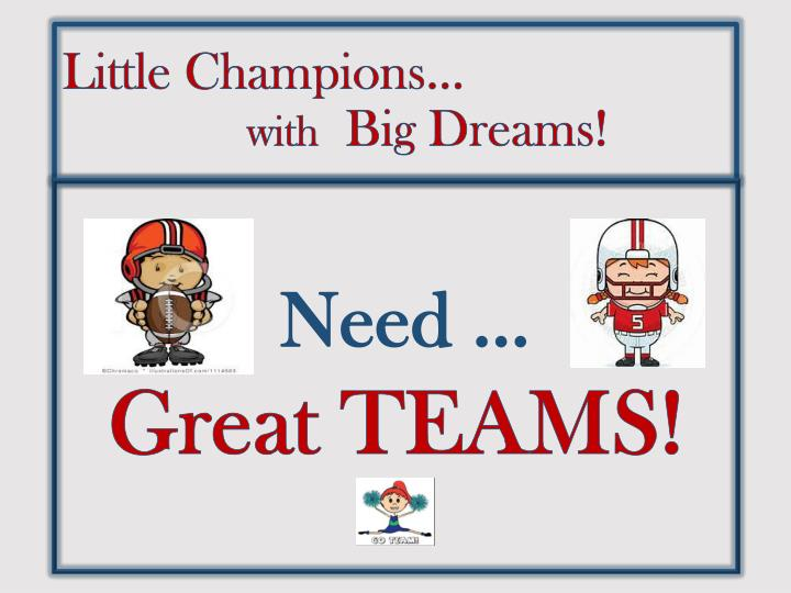 Little Champions…