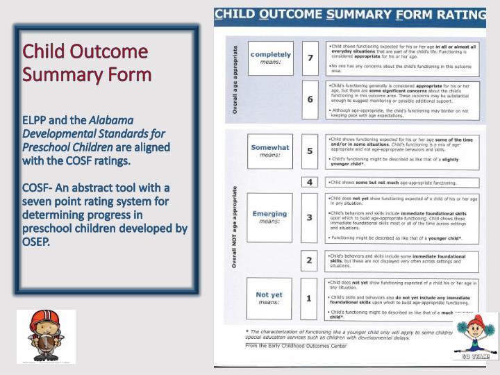 Child Outcome Summary Form