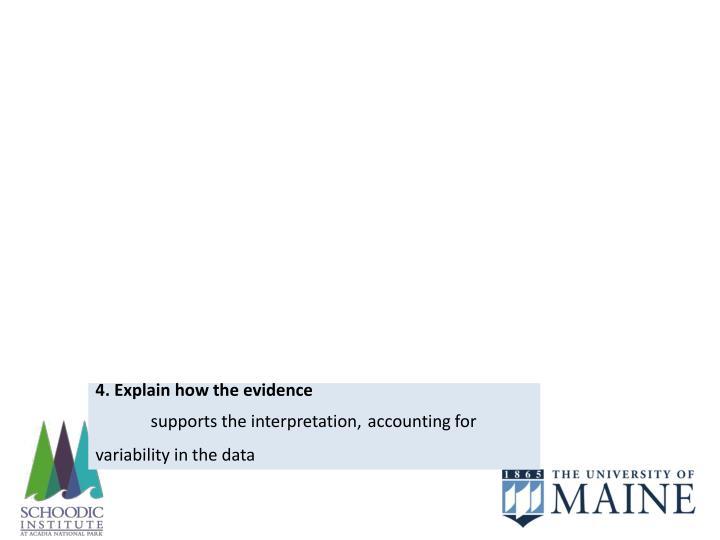 4. Explain how the evidence