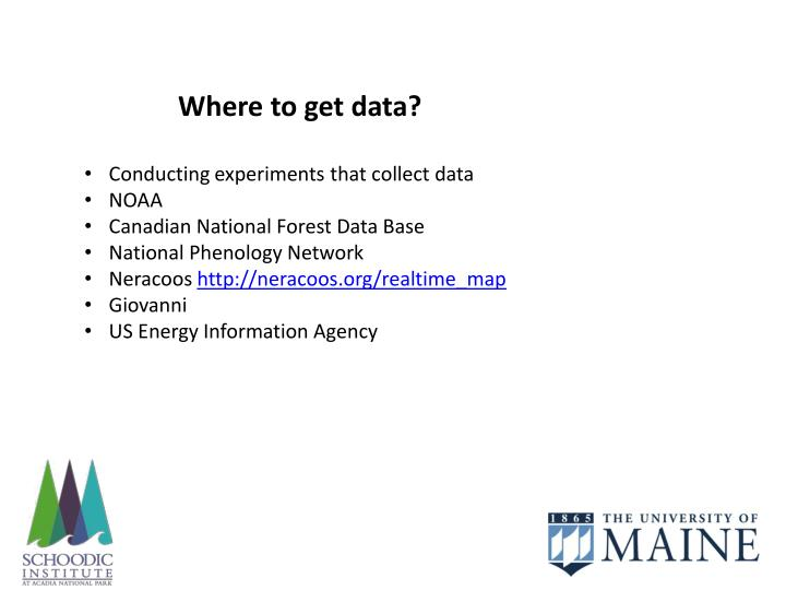 Where to get data?