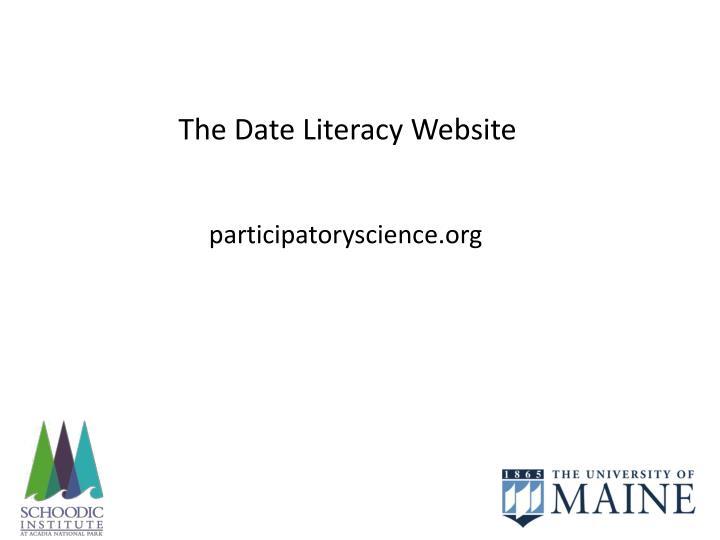 The Date Literacy Website