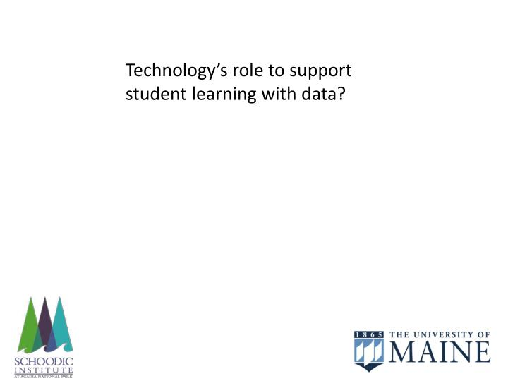 Technology's role to support student learning with data?