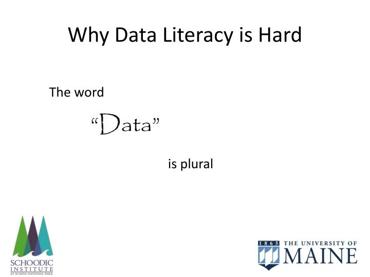 Why Data Literacy is Hard