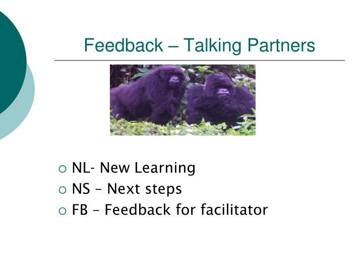 Feedback – Talking Partners