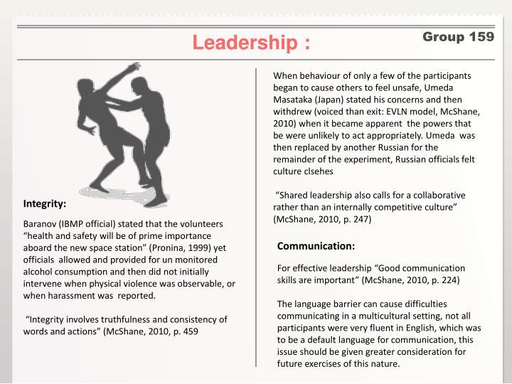 Leadership :