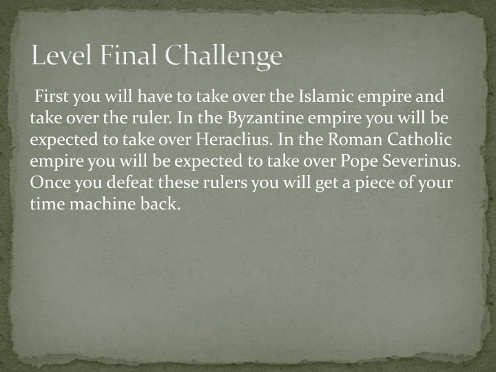 Level Final Challenge
