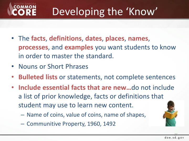 Developing the 'Know'