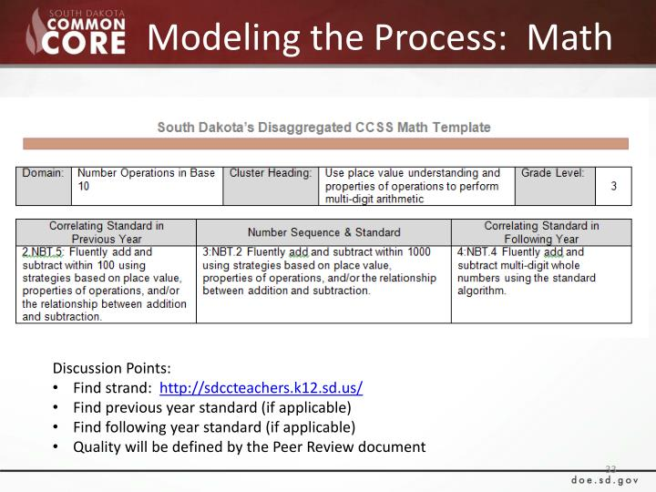 Modeling the Process:  Math