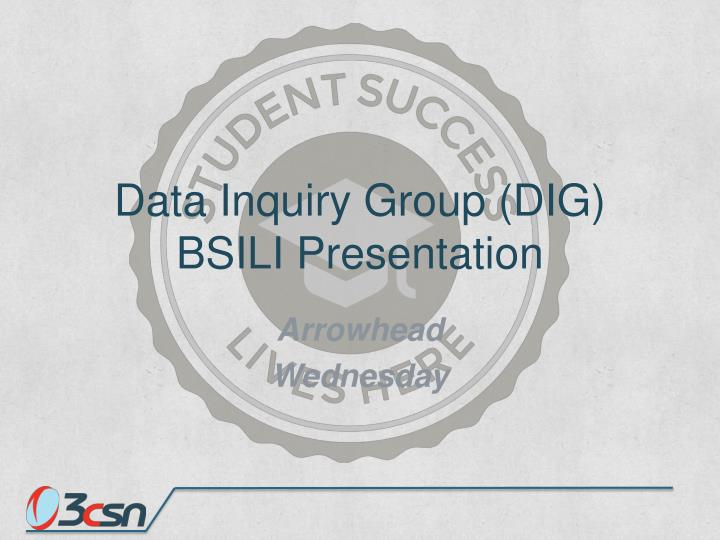 Data Inquiry Group (DIG)