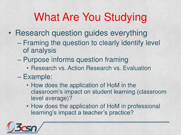What Are You Studying