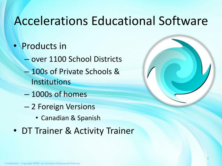 Accelerations Educational Software