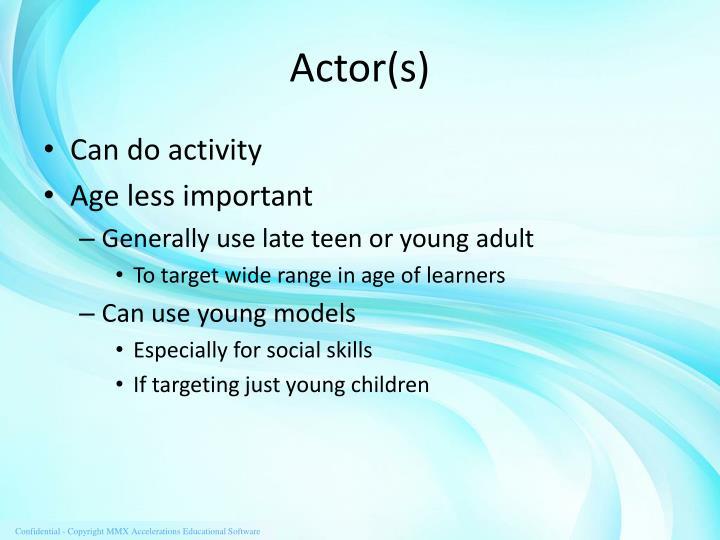 Actor(s)