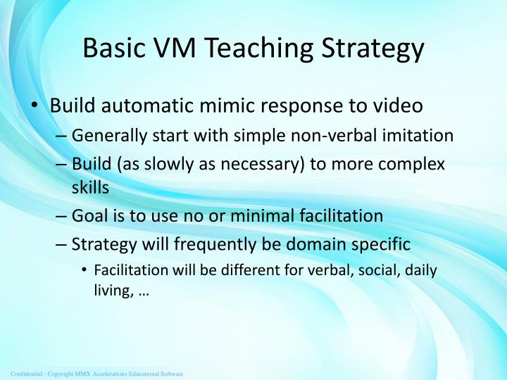 Basic VM Teaching Strategy