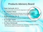 products advisory board