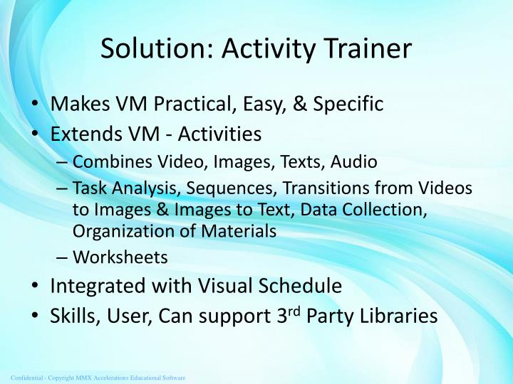 Solution: Activity Trainer