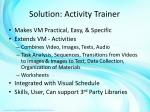 solution activity trainer