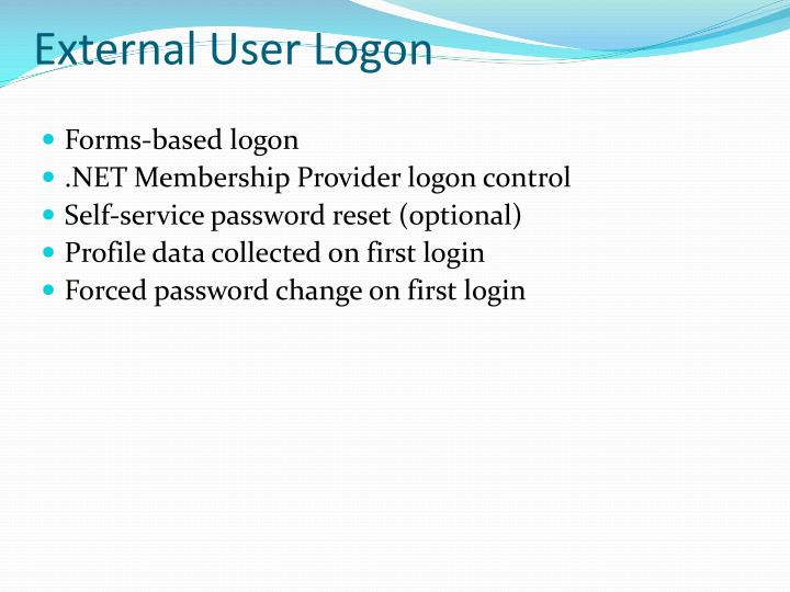 External User Logon