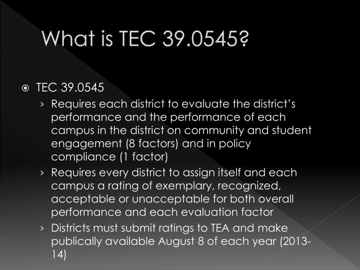 What is TEC 39.0545?