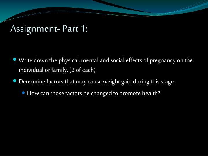 Assignment- Part 1: